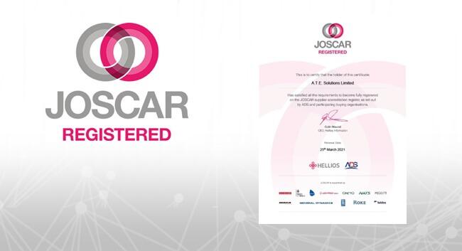 JOSCAR logo and cert